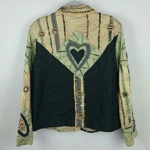 Embellished aplique blazer PXL